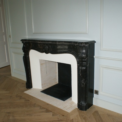 Foyer ouvert briquettes